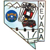 Nevada State Decorative Lapel Pin.