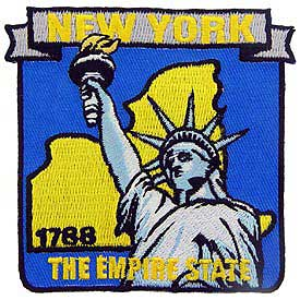 New York Decorative State Patch