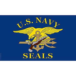 U.S. Navy Seals 3x5' Polyester Flag