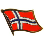 Norway Lapel Pin.