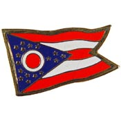 Ohio State Flag Lapel Pin.