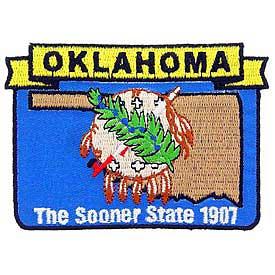 Oklahoma Decorative State Patch