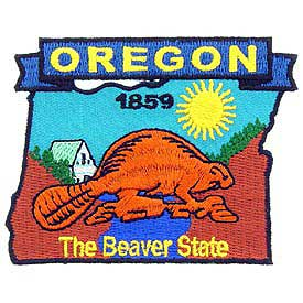 Oregon Decorative State Patch