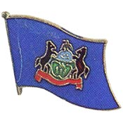 Pennsylvania State Flag Lapel Pin.