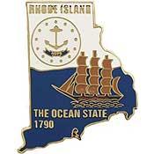 Rhode Island State Decorative Lapel Pin.