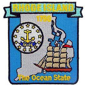 Rhode Island Decorative State Patch