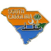 South Carolina State Decorative Lapel Pin.