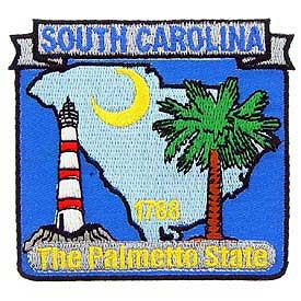 South Carolina Decorative State Patch