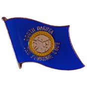 South Dakota State Flag Lapel Pin.