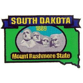 South Dakota Decorative State Patch