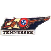 Tennessee State Decorative Lapel Pin.