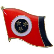 Tennessee State Flag Lapel Pin.