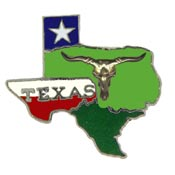 Texas State Decorative Lapel Pin.