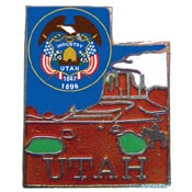 Utah State Decorative Lapel Pin.