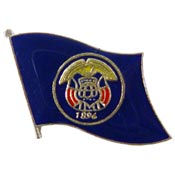 Utah State Flag Lapel Pin.