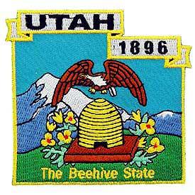 Utah Decorative State Patch