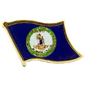Virginia State Flag Lapel Pin.