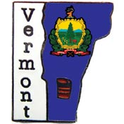 Vermont State Decorative Lapel Pin.