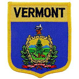 Vermont Flag Patch. 2 7/8 W x 3 1/2 W.