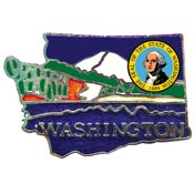 Washington State Decorative Lapel Pin.