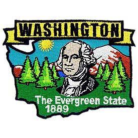 Washington Decorative State Patch