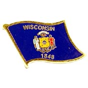Wisconsin State Flag Lapel Pin.