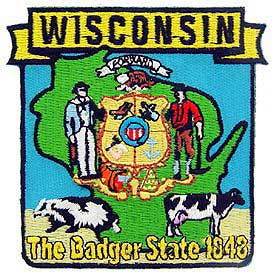 Wisconsin Decorative State Patch