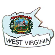 West Virginia State Decorative Lapel Pin.