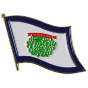 West Virginia State Flag Lapel Pin.