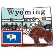Wyoming State Decorative Lapel Pin.