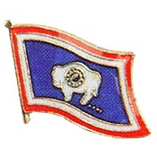 Wyoming State Flag Lapel Pin.