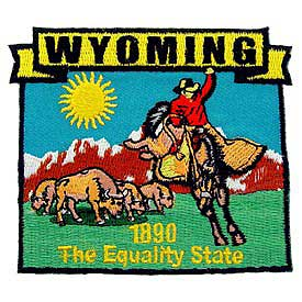 Wyoming Decorative State Patch